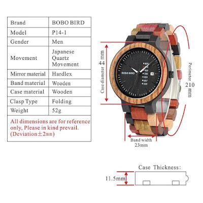 V-P14-1 BOBO BIRD Watches Features| 5 Summer Wood Watches Under $50