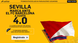 betfair supercuota 4 Sevilla marca al Barcelona ida Supercopa España 14 agosto