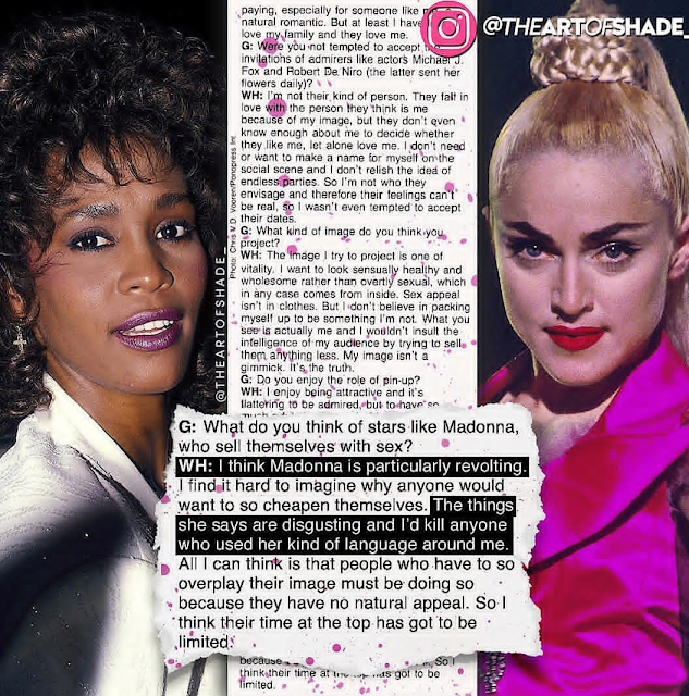 Madonna Called Whitney Houston 'horribly Mediocre' After Whitney Said She Was 'revolting' In Never Before Seen Letter That's Now Up For Auction