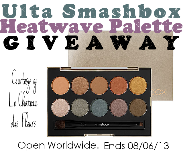 Ulta Smashbox Heatwave Eyeshadow Palette Giveaway