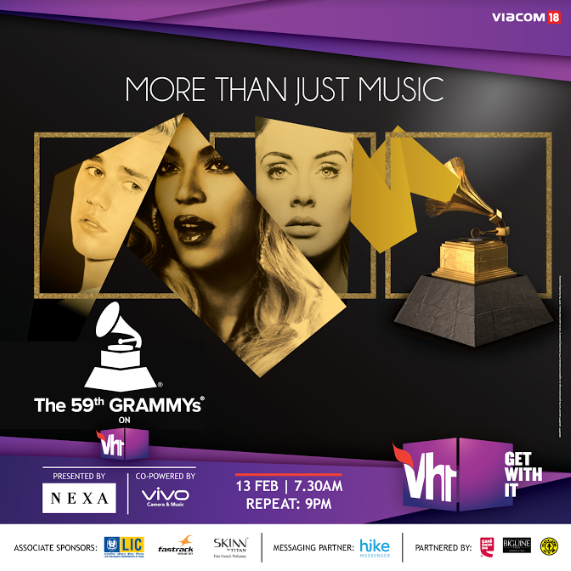Music Industry's BIGGEST NIGHT, 59th GRAMMY Awards Vh1, with your friends Harry's Bar