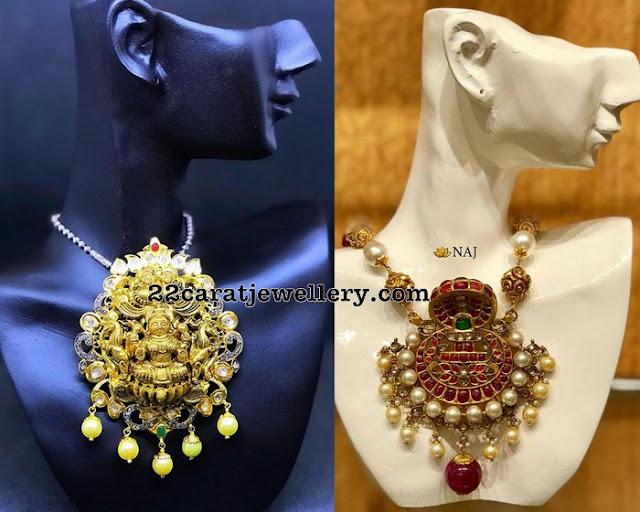 Heritage Lakshmi Devi Pendant Sets