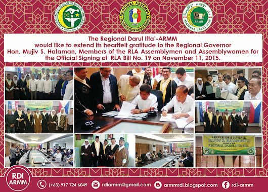 Official Signing of Regional Darul Ifta' Bill No. 19