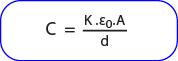 Rumus Kapasitas pengganti kapasitor yang diberi dielektrik