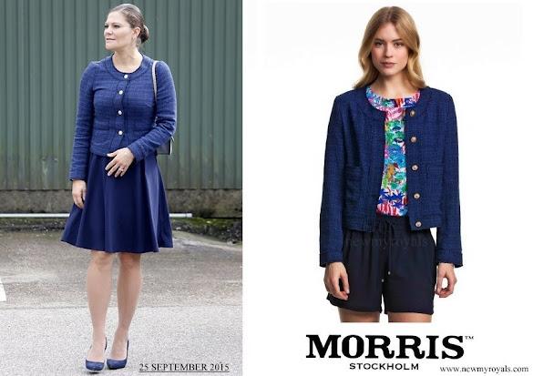 Crown Princess Victoria wore Morris Lady Jacket