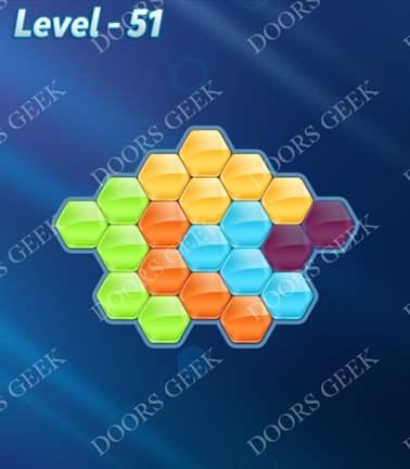 Block! Hexa Puzzle [5 Mania] Level 51 Solution, Cheats, Walkthrough for android, iphone, ipad, ipod