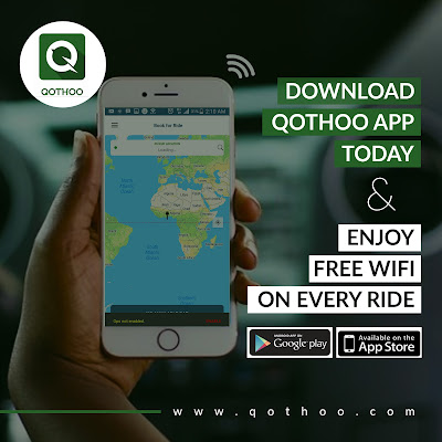 Download the Qothoo app, ride in style, enjoy free WiFi and win amazing gifts