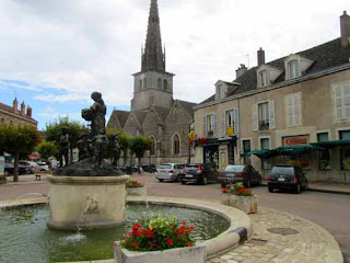 Main Square Auxey-Duresses Burgundy Cote d'Or France