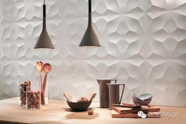 atlas concorde(阿特拉斯)公司設計的鑽石3D牆磚。