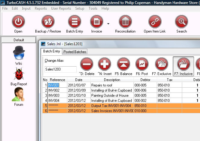 TurboCash Freee Accouting Software