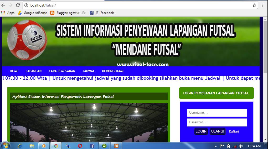 Source Code Aplikasi Penyewaan Lapangan Futsal Berbasis Web Base Php Native Siap Pakai