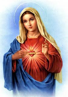 Quinze minutos na companhia  do Imaculado Coração de Maria