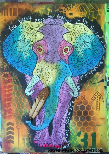 Coloring Book Images In Art Journal