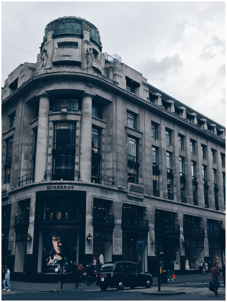 travel diary, london, regent street