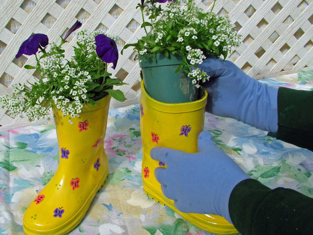 How To Recycle Recycling And Makeup Your Old Rain Boots