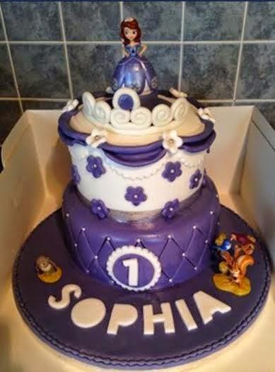 Sofia the first birthday cake