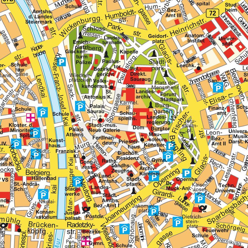 mapa da cidade de viena na austria Mapas de Graz   Áustria | MapasBlog mapa da cidade de viena na austria