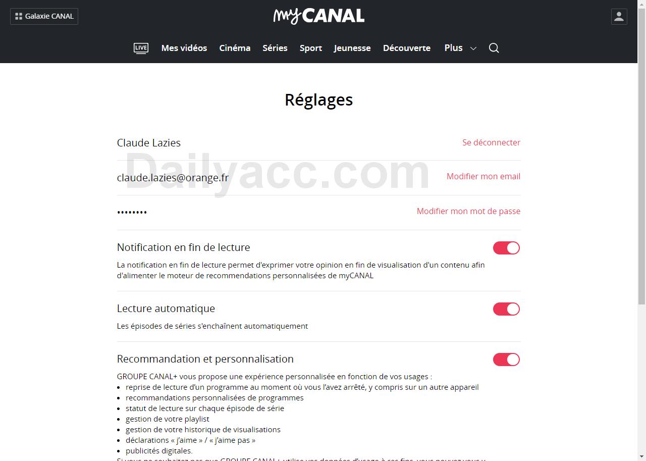 Mycanal.fr Premium Accounts December 15, 2018