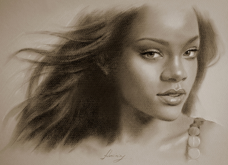 05-Rihanna-krzysztof20d-Portrait-Drawings-with-a-few-Celebrities-www-designstack-co