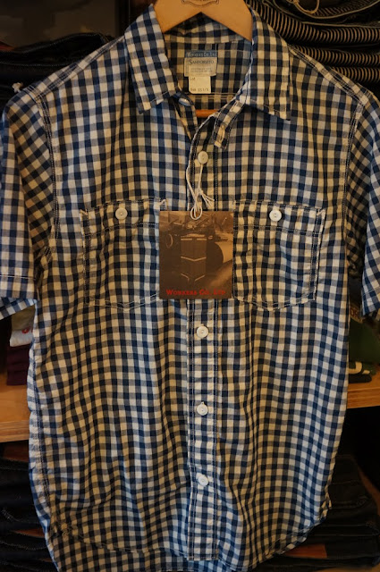 Workers  Short Sleeve Work  Lt Chambray  Gingham