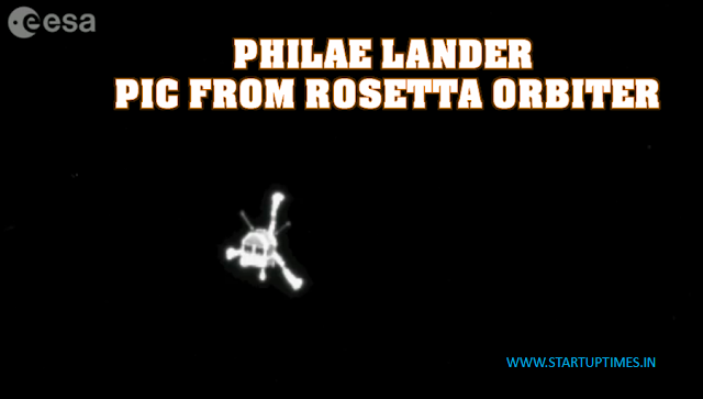 PHILAE LANDER PIC CAPTURED BY ROSETTA LANDER BEFORE TOUCH DOWN