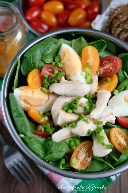 zdrowe śniadanie, zielona sałatka, lunch, daylicooking, Małgorzata Kijowska