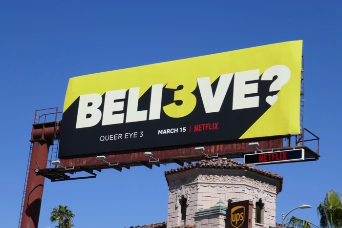 believe Queer Eye season 3 billboard
