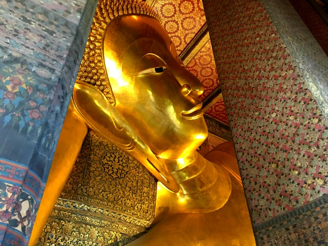 The Reclining Buddha at Wat Pho in Bangkok Thailand