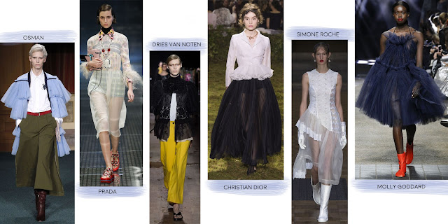 Osman, Prada, Christian Dior & more designers using tulle.