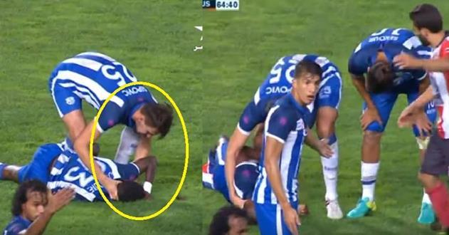 Un joueur de football au Maroc sauvé par son coéquipier pendant un malaise cardiaque.