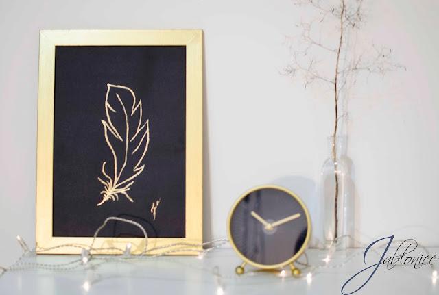 Złote dekoracje - czyli pogoń za trendami