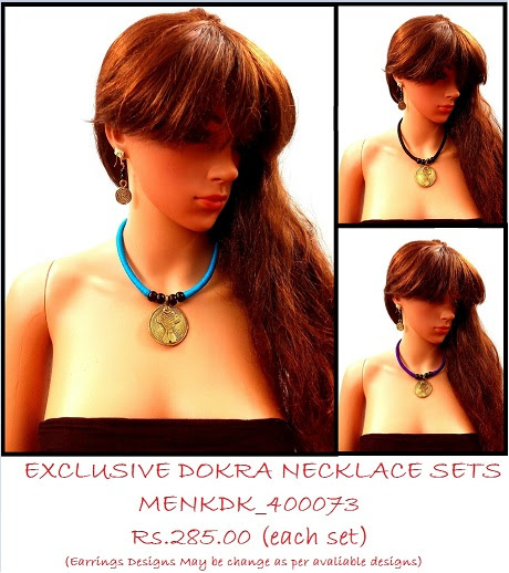 Handmade DOKRA Necklace sets for daily Fashion