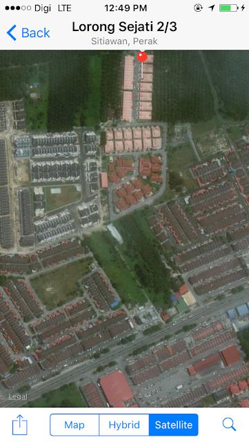 view melalui Satelit ke H&H Guesthouse Sitiawan Perak
