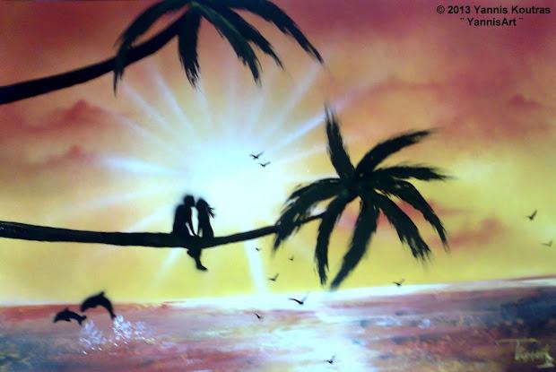 "Space Art Spray Paint Yannisart ""yannis Koutras"""