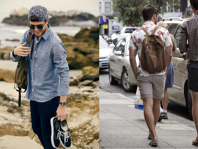 Looks masculinos com mochilas