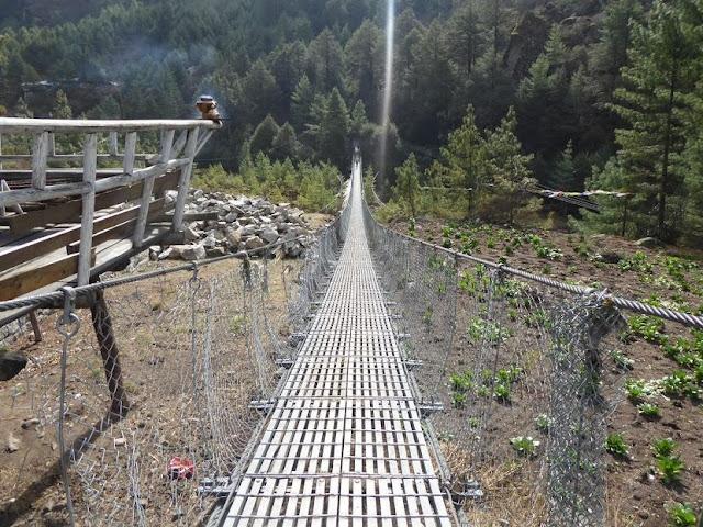 ponte tibetano prima di Namche