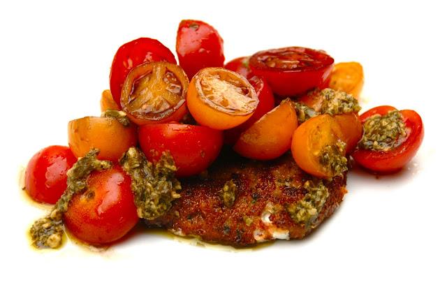 crispy crunchy caprese salad warm mozzarella cherry tomatoes