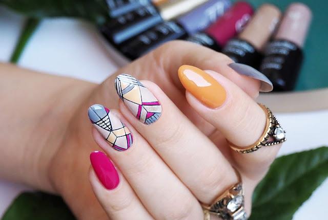 Azteckie paznokcie hybrydowe | Pierre René