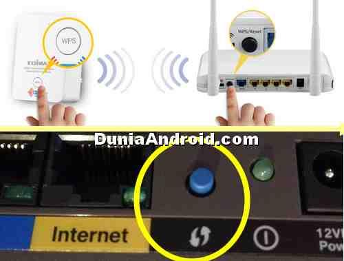 contoh tombol WPS di beberapa router WiFi