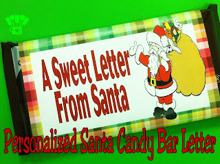 Make a Personalized Santa Letter for your child on a Candy Bar