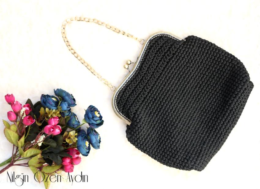 çanta süsleme-çanta örme-vintage çanta modeli-gül nakışı