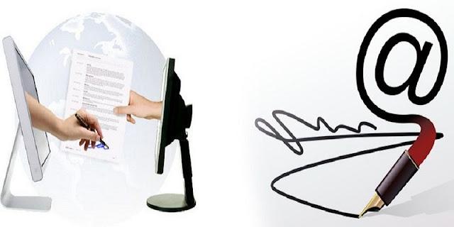 التوقيع الإلكتروني لمحاضر الخروج