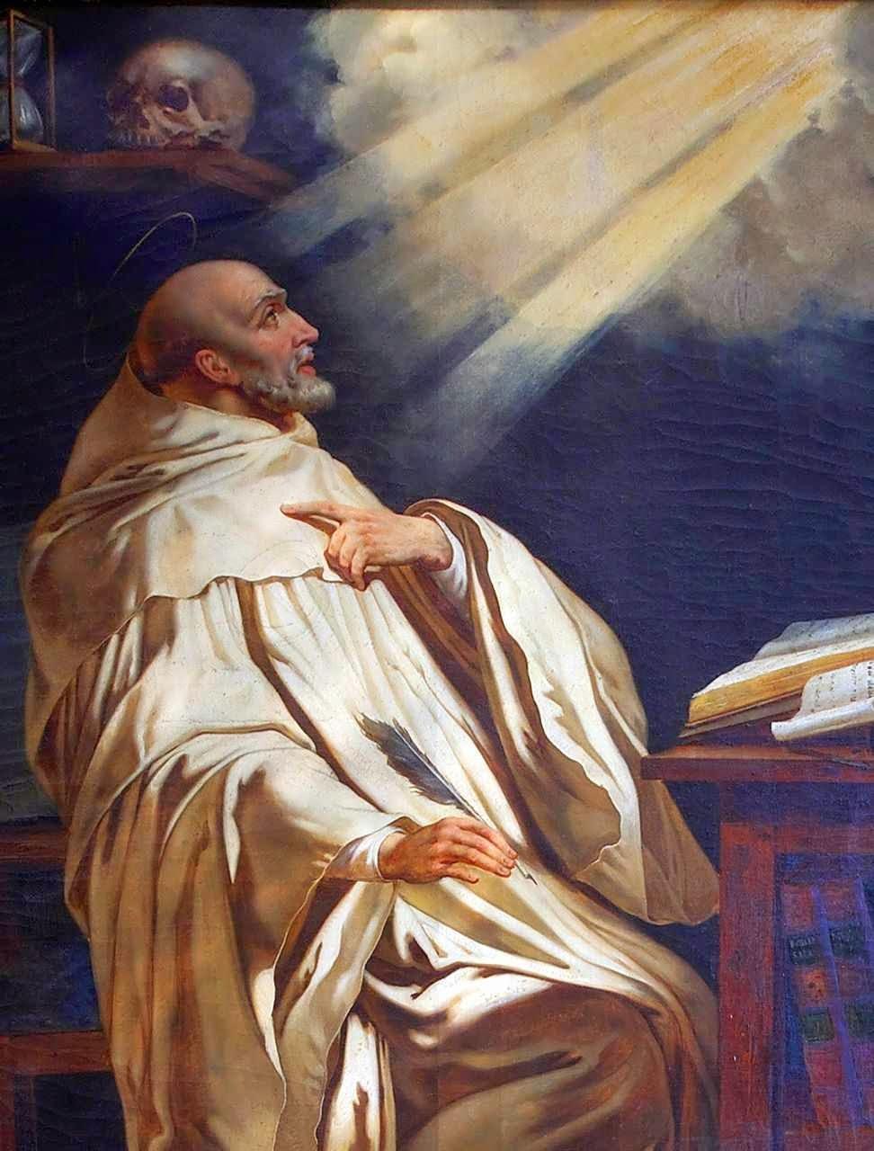 São Bernardo de Claraval foi o ardoroso pregador da retomada das Cruzadas. Philippe de Champaigne, Saint-Etienne du Mont