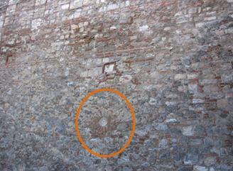 Zid Cetatea Vidin - simboluri heraldice