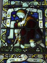 Photograph of stained glass window courtesy of St Mary's Church, North Mymms