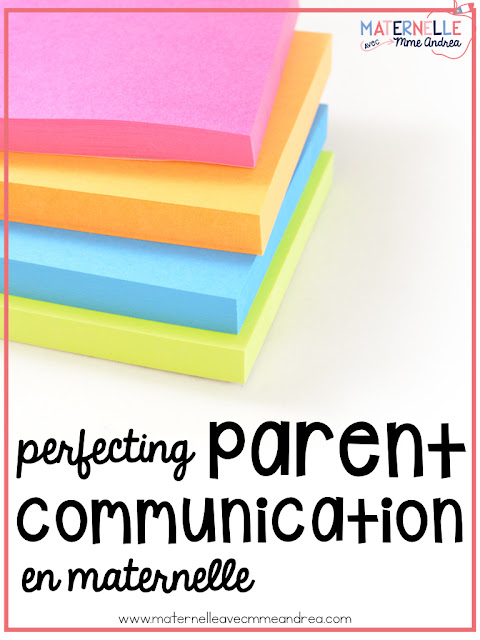 It is essential that teachers of all grades communicate with their students' parents, but this communication is especially important in maternelle. Check out this blog post to see how I communicate with parents all year long!