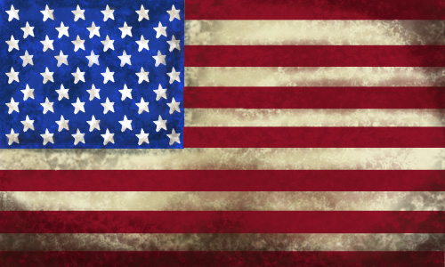 Moleskinex19 Old American Flag