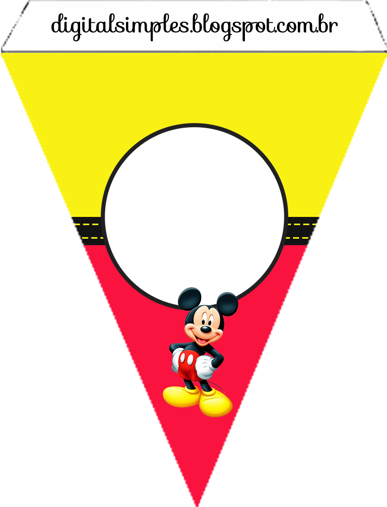 Mickey In Yellow And Red Free Printable Party Kit Oh My