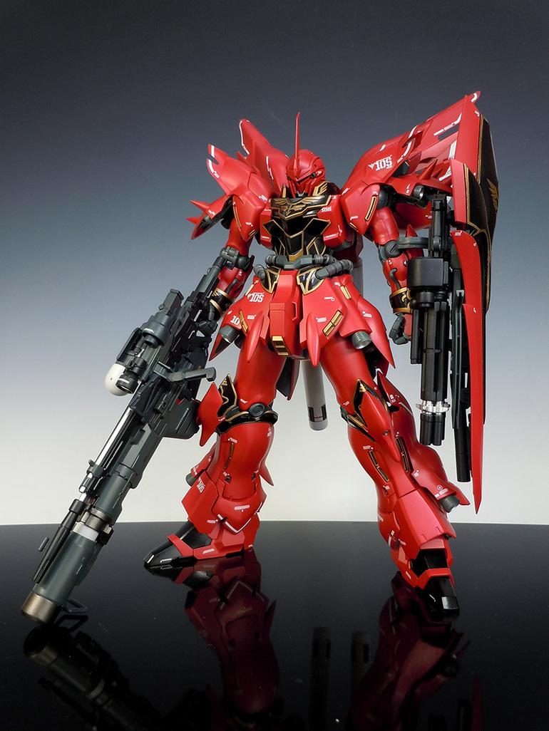 GUNDAM GUY: MG 1/100 MSN-06S Sinanju - Custom Build