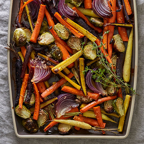 Roasted Vegetables featured on Walking on Sunshine Recipes
